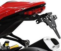 Zieger Licence plate holder Pro, black - Ducati 1200 Monster R