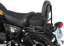 Hepco & Becker Sissybar without rearrack, Black - Moto Guzzi V9 Roamer with long seat (2017->)