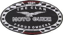 Moto Guzzi Patch, the clan, black-white, 15cm x 9,5cm