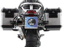 Hepco & Becker right Alu-Side cases Xplorer 40 for side case carrier set Cutout, Silver