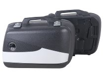 Hepco & Becker right Junior-single side case FLASH 30 with silver cover, Black