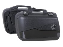 Hepco & Becker right Junior-single side case FLASH 30 with black cover, Black