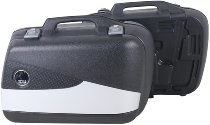 Hepco & Becker side case-set Junior Flash 30 with silver cover, Black