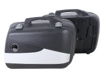 Hepco & Becker right single side case Junior FLASH 40 with silver cover, Black