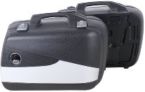 Hepco & Becker side case-kit Junior Flash 40 with silver cover, Black