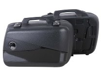 Hepco & Becker side case-kit Junior Flash with black cover Enduro 40 left / 30 right, Black