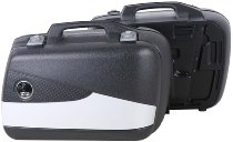 Hepco & Becker side case-kit Junior Flash with silver cover Enduro 40 left / 30 right, Black