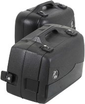 Hepco & Becker side case-kit with black cover Junior Flash Enduro 30left / 40right, Black
