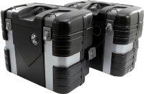 Hepco & Becker side case-kit Gobi incl. luggage hook - Black Edition black / silver
