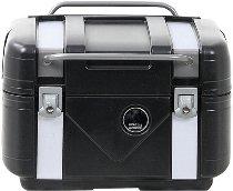 Hepco & Becker Gobi Topcase Black Edition, black with silver inlays