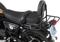 Hepco & Becker Sissybar con portamaletas trasero, Negro - Moto Guzzi V 9 Roamer (2017->)