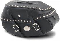 Hepco & Becker Leather single bag Buffalo Custom left for tube saddlebag carrier, Black