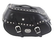 Hepco & Becker Leather single bag Buffalo Custom left for C-Bow Carrier, Black