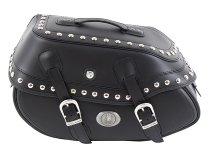 Hepco & Becker Leather single bag Buffalo Big Custom left for C-Bow Carrier, Black
