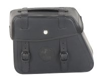 Hepco & Becker Leather single bag Rugged left for Cutout, Black