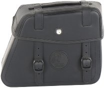 Hepco & Becker Leather single bag Rugged right for Cutout, Black