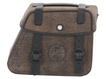 Hepco & Becker Leather single bag Rugged right for Cutout, Brown