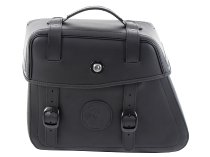 Hepco & Becker Leather single bag Rugged left for C-Bow holder, Black