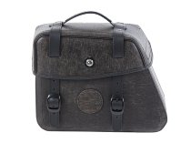 Hepco & Becker Leather single bag Rugged left for C-Bow holder, Brown