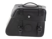 Hepco & Becker Leather single bag Rugged right for C-Bow holder, Black