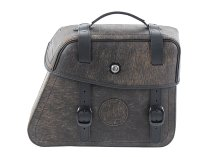 Hepco & Becker Leather single bag Rugged right for C-Bow holder, Brown