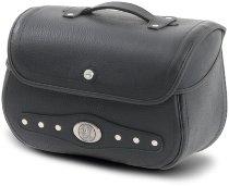 Hepco & Becker Leather single bag Nevada for tube saddlebag carrier, Black