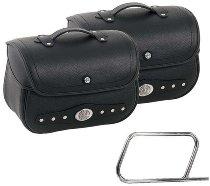 Hepco & Becker Saddlebags Nevada for tube saddlebag carrier, Black