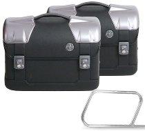 Hepco & Becker side case-kit Straykerfor tube saddlebagholder 15 liters, Black