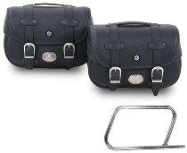 Hepco & Becker Leatherbags Liberty for tube saddlebag carrier, Black