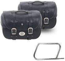 Hepco & Becker Leatherbags Liberty Big for tube saddlebag carrier, Black