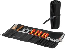 Hepco & Becker tool bag for 15 tools made of imitation leather, Black