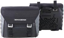 Hepco & Becker Seitentaschensatz Xtravel Basic + 2xUniversaladapterplatte für Rohrseitenkofferträger
