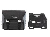 Hepco & Becker rechte Seitentasche Xtravel Basic + Universaladapterplatte für Rohrseitenkofferträger