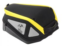Hepco & Becker Tankbag Lock it Royster with yellow zipper, Black