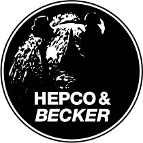Hepco & Becker original auxiliary headlights in conjunction with H&B tank guard, Black - BMW R 1200