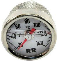 RR Oil thermometer white 36x1.5x180 fine thread - Triumph Trident, Daytona, Trophy to 1992