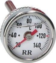 RR Oil thermometer white 24x3x50 - Honda 450 CB S, 650 CBX E, 750 VF, 1000 CBX, KTM 1290 Super Duke