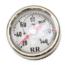 RR Oil thermometer white 18 x 1.5 x 235 - Laverda 1000 Jota, RGS, 1200..., Awo Sport...