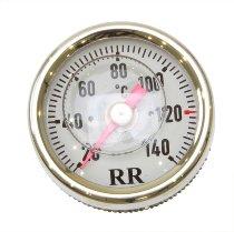 RR Oil thermometer white 22x1.5x75 - Ducati 750-900 SS bevel drive, Darmah, 450 Desmo...