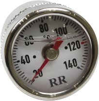 RR Oil thermometer white 20x2.5x25 - Ducati Scrambler, Monster, Multistrada, Honda, Kawasaki, Triump