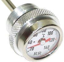 RR Oil thermometer white M20x1,5x200mm - Moto Guzzi Centauro, Daytona, V11, 1100 Breva, Griso, Sport