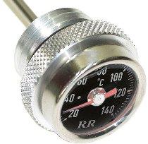 RR Oil thermometer black M20x1,5x200mm - Moto Guzzi Centauro, Daytona, V11, 1100 Breva, Griso, Sport