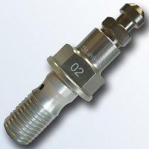 stahlbus Banjo bolt with bleeder valve 7/16 inch-24UNFx20mm, aluminium