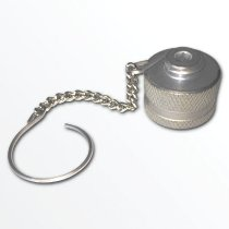 stahlbus Protection dust cap for oil drain valve with retainer, steel