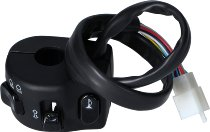Tommaselli turn signal switch, complete, universal, black, - 22mm