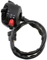 Tommaselli turn signal switch, complete, universal, black, - Aprilia, Ducati