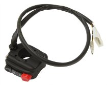Tommaselli starter switch, complete, universal, with emergency stop switch, black