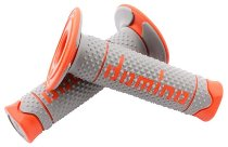 Tommaselli grip rubber set DSH Enduro, 120 mm, gray / orange