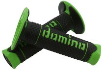 Tommaselli grip rubber set DSH Enduro, 120 mm, black / green