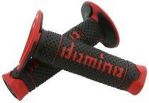 Tommaselli grip rubber set DSH Enduro, 120 mm, black / red